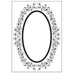Placa de Textura Emboss 10,6x15 Cm - Modelo Moldura Redonda