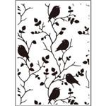 Placa de Textura Emboss 10,6x15 Cm - Modelo Passarinhos