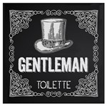 Placa Decorativa 20x20cm Gentleman Toilette Lpdxx-008 - Litocart
