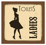 Placa Decorativa 20X20cm Toilets Ladies LPDXX-007 - Litocart