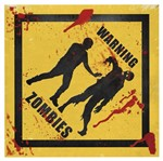 Placa Decorativa 20x20cm Warning Zombies Lpdxx-001 - Litocart