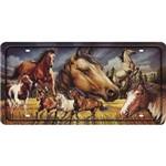 Placa Decorativa 15x30cm Cavalos Lpd-069 - Litocart