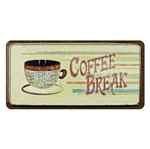 Placa Decorativa 15x30cm Coffee Break Lpd-052 - Litocart