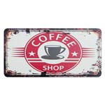 Placa Decorativa 15x30cm Coffee Shop Lpd-051 - Litocart