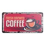 Placa Decorativa 15x30cm Fresh Brewed Coffee Lpd-033 - Litocart