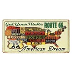 Placa Decorativa 15x30cm Get Your Kicks Route 66 Lpd-029 - Litocart