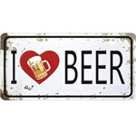 Placa Decorativa 15x30cm I Love Beer Lpd-055 - Litocart