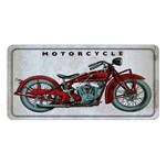 Placa Decorativa 15x30cm Motorcycle LPD-024 - Litocart