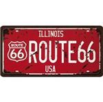 Placa Decorativa 15x30cm Route 66 Lpd-060 - Litocart