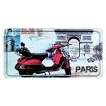 Placa Decorativa 15x30cm Vespa Paris Lpd-027 - Litocart