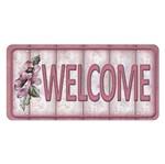 Placa Decorativa 15x30cm Welcome LPD-043 - Litocart