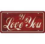 Placa Decorativa 15x30cm Y Love You Lpd-071 - Litocart