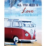 Placa Decorativa 24,5x19,5cm All You Need Is Love And The Beach Lpmc-041 - Litocart