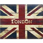 Placa Decorativa 24,5x19,5cm Bandeira da Inglaterra LPMC-093 - Litocart