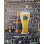 Placa Decorativa 24,5x19,5cm Beer Lpmc-064 - Litocart