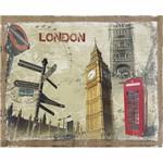 Placa Decorativa 24,5x19,5cm Cartão Postal Londres Lpmc-095 - Litocart
