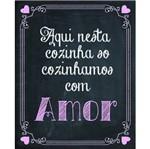 Placa Decorativa 24,5x19,5cm Cozinhando com Amor Lpmc-062 - Litocart