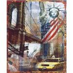 Placa Decorativa 24,5x19,5cm Estátua da Liberdade New York Lpmc-097 - Litocart