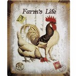 Placa Decorativa 24,5x19,5cm Farm's Life Lpmc-070 - Litocart