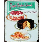 Placa Decorativa 24,5X19,5cm Fresh Baked Goods LPMC-060 - Litocart