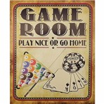 Placa Decorativa 24,5x19,5cm Game Room Lpmc-083 - Litocart