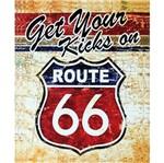 Placa Decorativa 24,5x19,5cm Get Your Kicks On Route 66 Lpmc-044 - Litocart