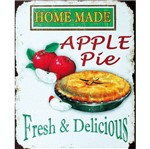 Placa Decorativa 24,5x19,5cm Home Made Apple Pie Lpmc-058 - Litocart