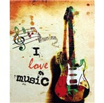 Placa Decorativa 24,5x19,5cm I Love Music Lpmc-030 - Litocart