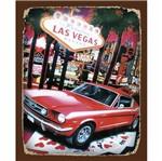 Placa Decorativa 24,5x19,5cm Las Vegas LPMC-081 - Litocart