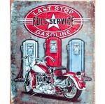 Placa Decorativa 24,5x19,5cm Last Stop Full Service Gasoline Lpmc-039 - Litocart