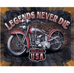 Placa Decorativa 24,5x19,5cm Legends Never Die Lpmc-077 - Litocart