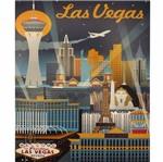 Placa Decorativa 24,5x19,5cm Pintura Las Vegas Lpmc-102 - Litocart