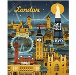 Placa Decorativa 24,5x19,5cm Pintura London Lpmc-101 - Litocart