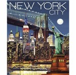 Placa Decorativa 24,5x19,5cm Pintura New York City LPMC-100 - Litocart