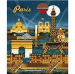 Placa Decorativa 24,5x19,5cm Pintura Paris Lpmc-099 - Litocart