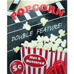 Placa Decorativa 24,5x19,5cm Popcorn Double Feature! Lpmc-056 - Litocart
