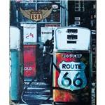 Placa Decorativa 24,5x19,5cm Posto de Gasolina Route 66 Lpmc-040 - Litocart