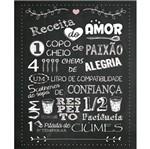 Placa Decorativa 24,5x19,5cm Receita do Amor Lpmc-031 - Litocart