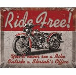 Placa Decorativa 24,5x19,5cm Ride Free! Lpmc-076 - Litocart