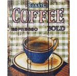 Placa Decorativa 24,5x19,5cm Roasted Coffee Lpmc-071 - Litocart