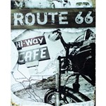 Placa Decorativa 24,5x19,5cm Route 66 Lpmc-043 - Litocart