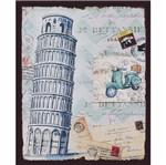 Placa Decorativa 24,5x19,5cm Torre de Pisa Itália Lpmc-098 - Litocart