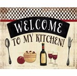 Placa Decorativa 24,5x19,5cm Welcome To My Kitchen! Lpmc-075 - Litocart