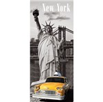 Placa Decorativa 50x20cm Estátua da Liberdade Lprc-007 - Litocart