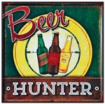 Placa Decorativa 25x25cm Beer Hunter Lpqc-040- Litocart