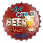 Placa Decorativa 25x25cm Ice Cold Beer Sold Lpqc-031 - Litocart