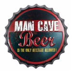 Placa Decorativa 25x25cm Man Cave Beer Lpqc-028 - Litocart