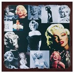 Placa Decorativa 25x25cm Marilyn Monroe Lpqc-041- Litocart