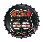 Placa Decorativa 25x25cm Route 66 Lpqc-022- Litocart