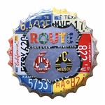 Placa Decorativa 25x25cm Route 66 Placas LPQC-025 - Litocart